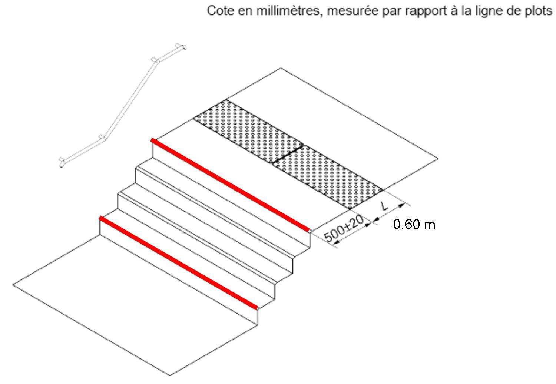 Largeur D Une Marche D Escalier accessoires des escaliers et terrasses (pmr) - marcanterra