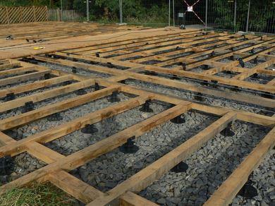 Platelages sur sol ferme marcanterra bois et plantes for Maison bois sur plots